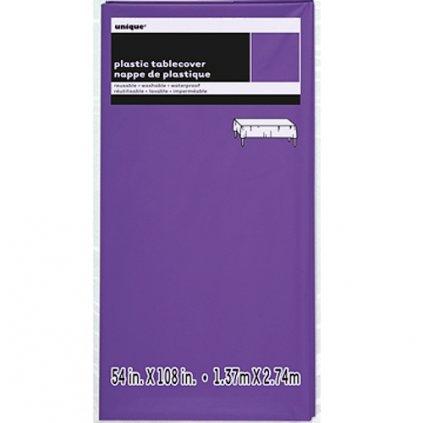 UBRUS plastový neon purple