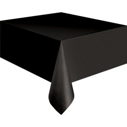 Ubrus plastový černý pro obdélníkový stůl 137x274cm