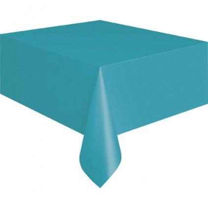 Ubrus plastový Carribean Teal pro obdélníkový stůl 137x274cm