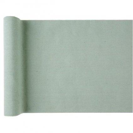 Šerpa na stůl bavlněná zelená 28cmx3m