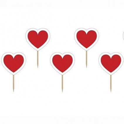 Napichovátka Srdce červené 6ks