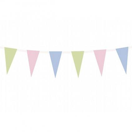 Girlanda pastelová vlaječky 1ks