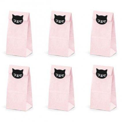 Pytlíčky na cukroví Kočka 6 ks