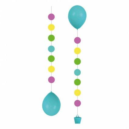 ZÁVĚSY na balonky Puntíky 3ks
