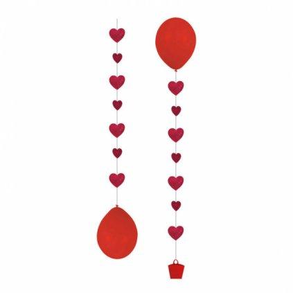 ZÁVĚSY na balonky Srdce 3ks
