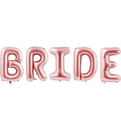 NÁPIS fóliový Bride růžové zlato 280x86cm