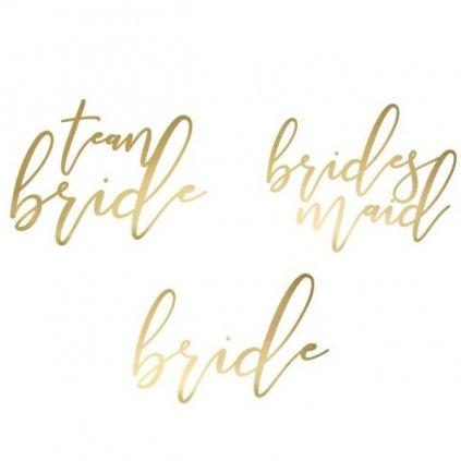 Tetování Team Bride 15ks zlaté