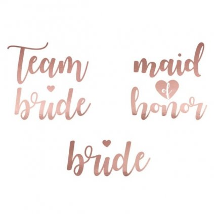 Tetování Team Bride 15ks rosegold