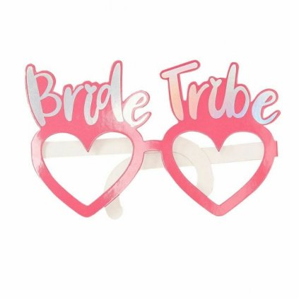 Brýle papírové Bride Tribe na rozlučku se svobodou 8ks