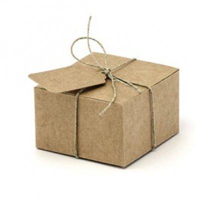 Krabičky na drobnosti Nature se jmenovkou 10ks