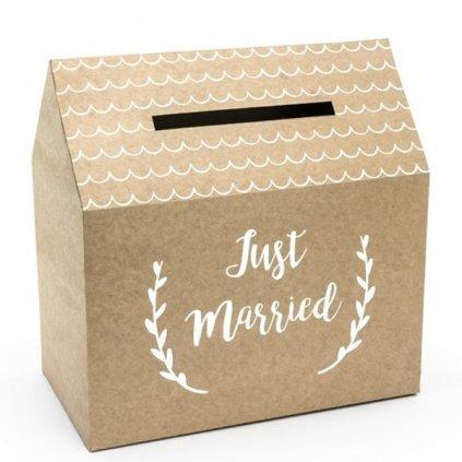 Box na přání hnědý Just Married