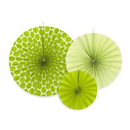 Rozety závěsné zelené 3ks