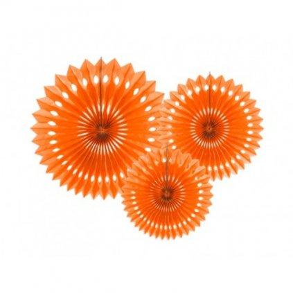 Rozety jednobarevné oranžové 3ks