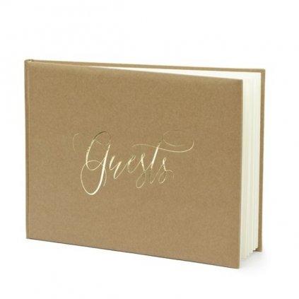 Svatební kniha nature s nápisem guests