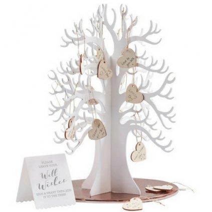 STROM PŘÁNÍ SVATEBNÍ dřevěný (kniha hostů)