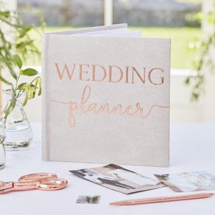 PLÁNOVACÍ svatební diář šedý