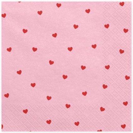 UBROUSKY Srdce světle růžové 33x33cm
