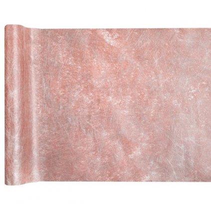 Šerpa na stůl metalická Rose Gold 30cmx25m