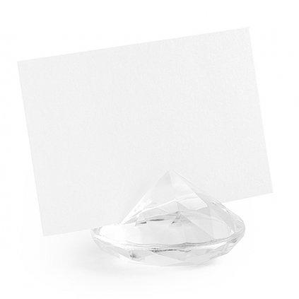 Stojánek na jmenovku diamant transparentní 10ks