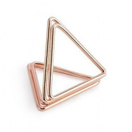 DRŽÁKY na jmenovky trojúhelníkové růžové zlato 2,3cm