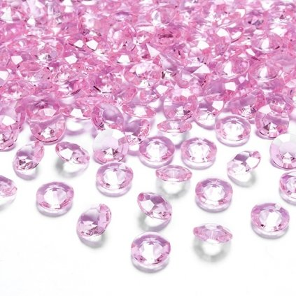 Konfetky diamantové světle růžové