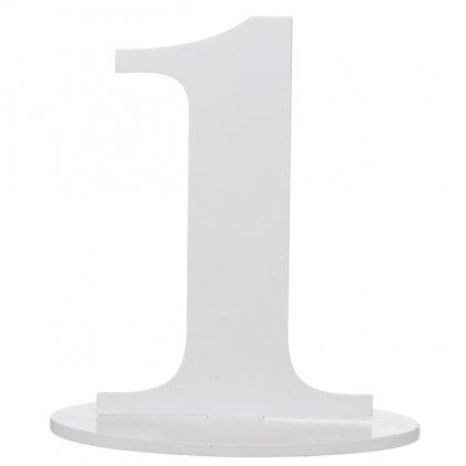 Číslo 1 na stůl dřevěné s podstavcem 1ks