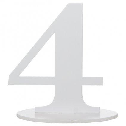 Číslo 4 na stůl dřevěné s podstavcem 1ks