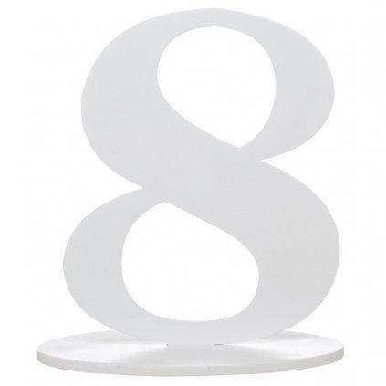 Číslo 8 s podstavcem 1ks