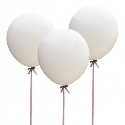 BALÓN JUMBO bílý 3ks 90cm