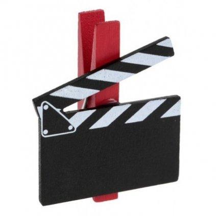 FILMOVÁ klapka na kolíčku 6ks