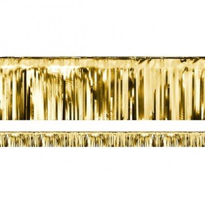 Dekorační závěs fóliový zlatý 1ks