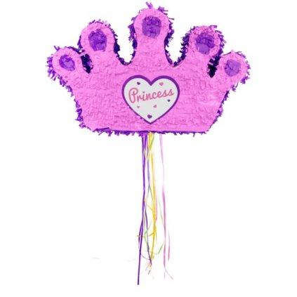 Piňata Korunka Princess růžová