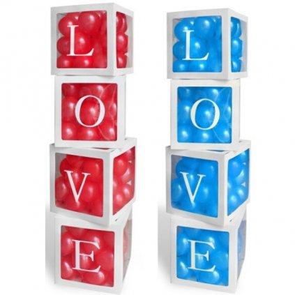 KRABICE na balónky Love 4ks