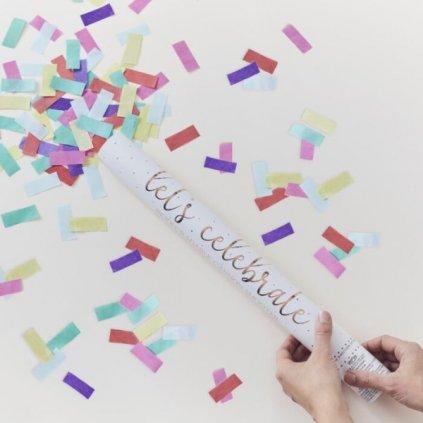 VYSTŘELOVACÍ konfety eko barevné