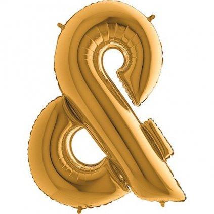 Balonek fóliový zlatý znak &