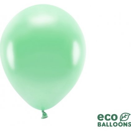 ECO balonky latexové metalické tm. mint 26cm 100ks