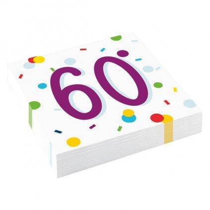 """Ubrousky konfety """"60"""" 33x33cm 20ks"""