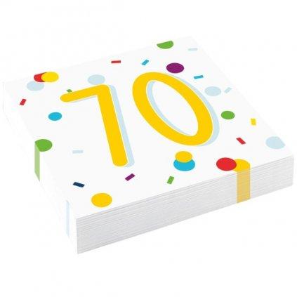 """Ubrousky konfety """"70"""" 33x33cm 20ks"""