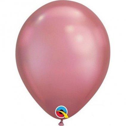 BALÓNEK Qualatex chromový latexový růžový 18cm 1ks