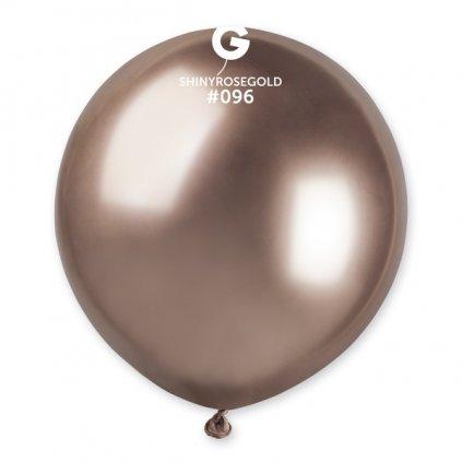 BALÓNEK chromový latexový růžové zlato 48cm 1ks