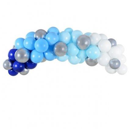BALONKOVÁ GIRLANDA  sada balonků modrá  2m 61ks