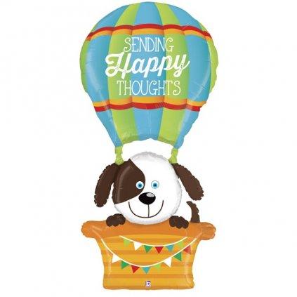 BALÓNEK AIRWALKER  fóliový Horkovzdušný balón s pejskem 150 cm