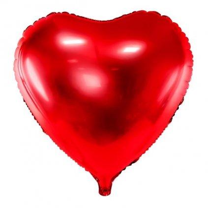 BALÓN fóliový Srdce červené 61cm
