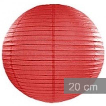 LAMPION kulatý 20cm červený