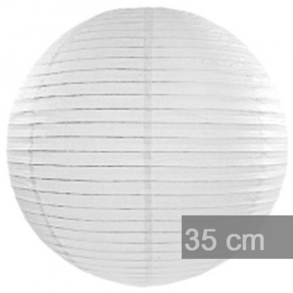 Lampion dekorační 35cm bílý