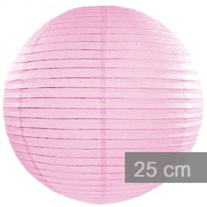 LAMPION dekorační 25cm růžový