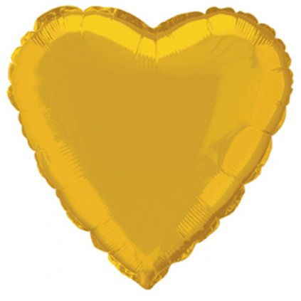 BALONEK SRDCE fóliový zlaté 46,7cm