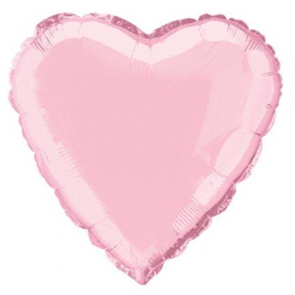 Balónek fóliový srdce Pastel pink