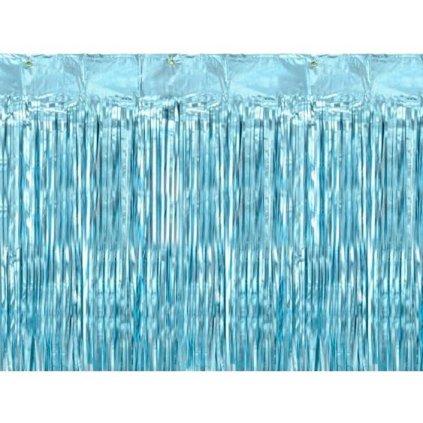 DEKORACE závěs fóliový modrý