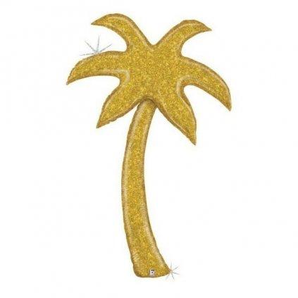 BALÓNEK AIRWALKER fóliový holografický Palma zlatá 150 cm